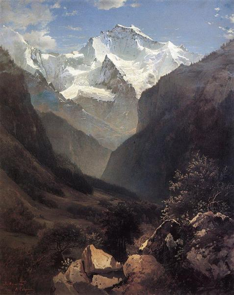 View of the Swiss Alps (Mount Small Ruhen), 1862 - Aleksey Savrasov