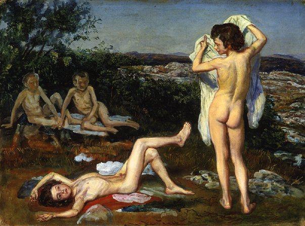 Four nude boys, 1824