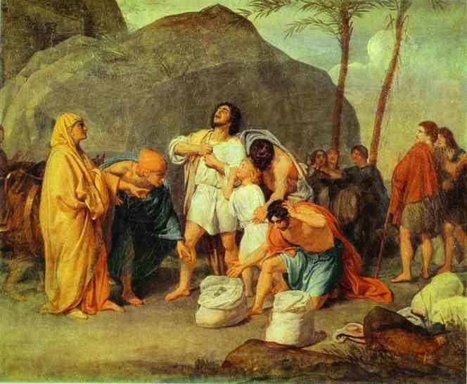 Joseph's Brothers Find the Silver Goblet in Benjamin's Pack, 1833 - Alexander Ivanov