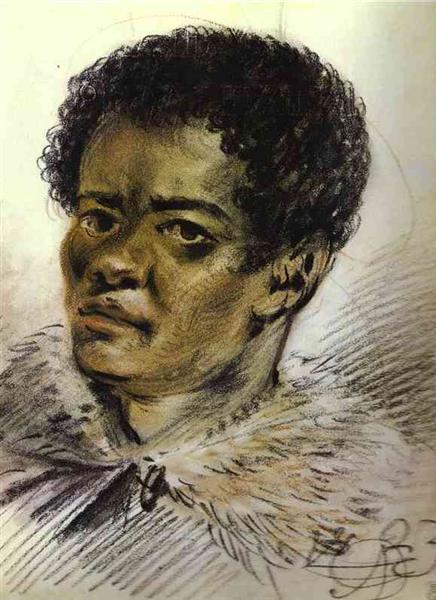 Portrait of a Negro, Orlovski's Servant, 1823 - Alexander Orlowski