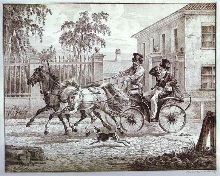 Town Carriage (Droshky), 1820