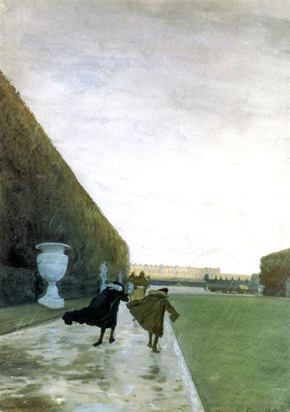 The King walked in any weather…(Saint-Simon ), 1898 - Alexandre Benois