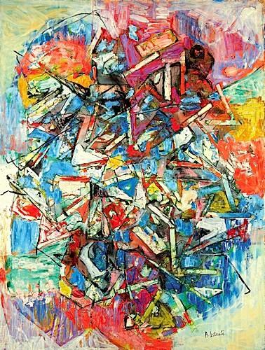 Composition bleu rouge - Alexandre Istrati