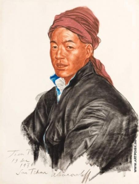 Portrait of Tien Po, 1931 - Alexandre Jacovleff