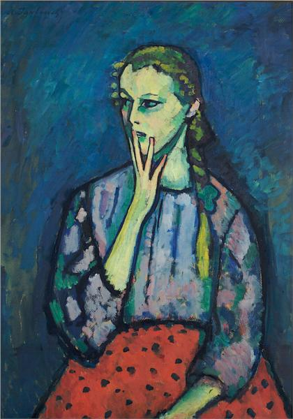 Portrait of a Girl, 1909 - Alekséi von Jawlensky
