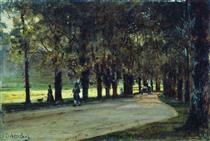 Alley in the park, Liechtenstein - Alexey  Bogolyubov