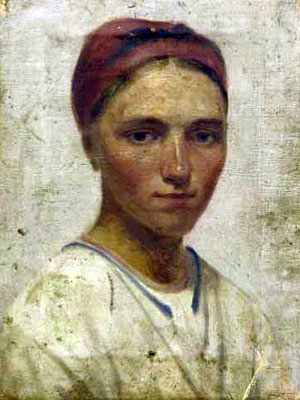 Portrait of a peasant girl - alexey venetsianov