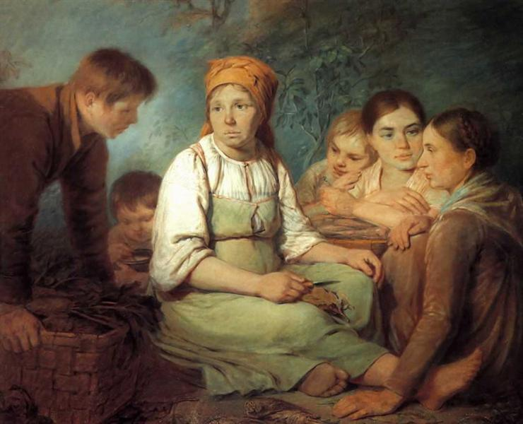 Shelling of beet, 1820 - Alexey Venetsianov