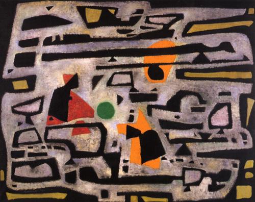 Hiver, 1950 - Альфред Манесье