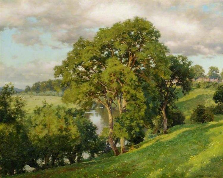Ash Trees at Cropthorne, Worcestershire - Alfred Parsons