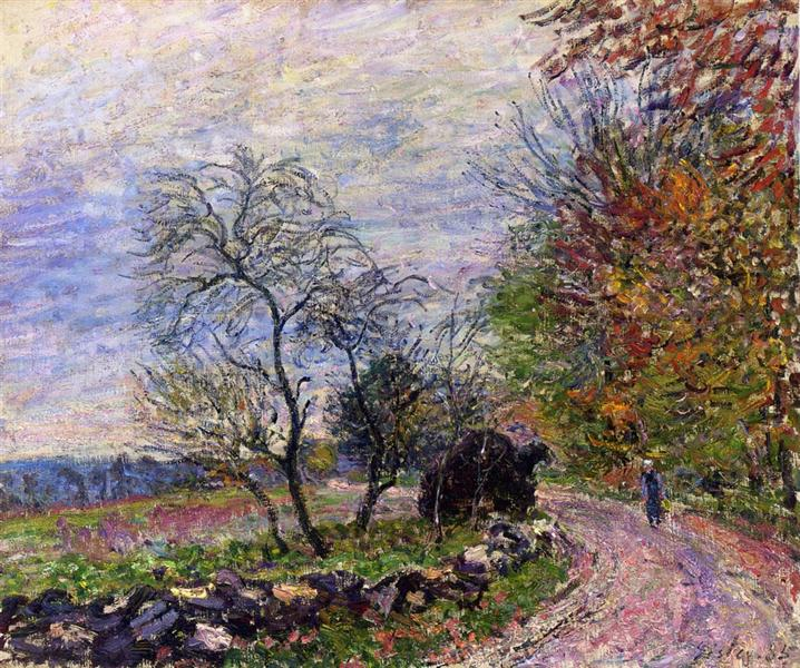 Along the woods in Autumn, 1885 - Alfred Sisley