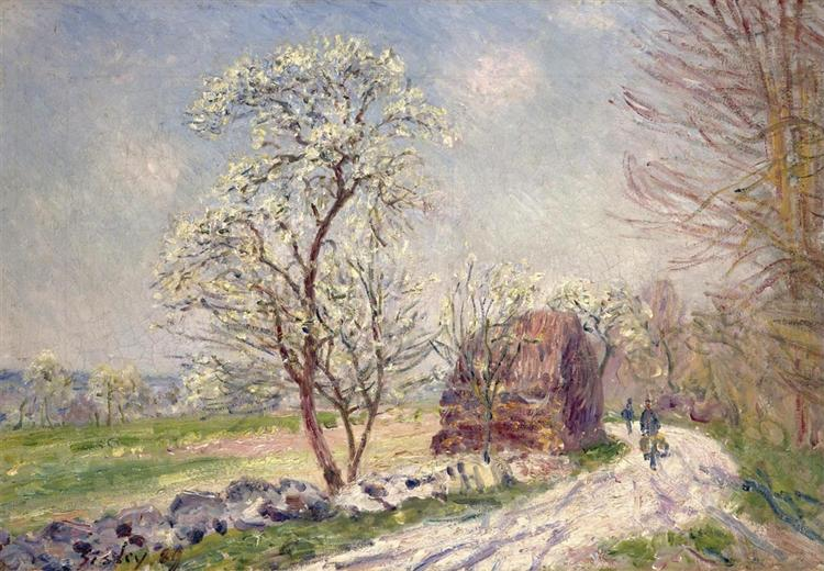Along the Woods in Spring, 1889 - Alfred Sisley