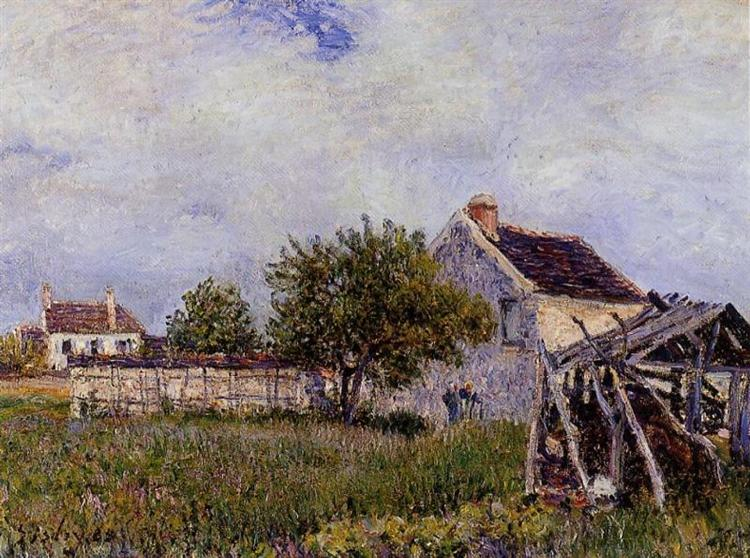 An Old Cottage at Sablons, 1885 - Alfred Sisley