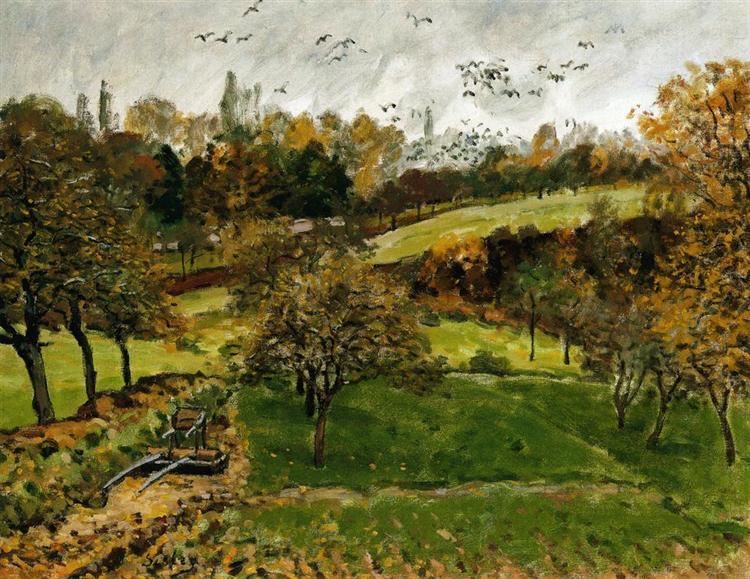 Autumn Landscape, Louveciennnes, c.1875 - Alfred Sisley
