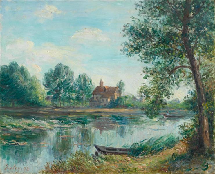 Banks ofthe LoingatSaintMammès, 1892 - Alfred Sisley