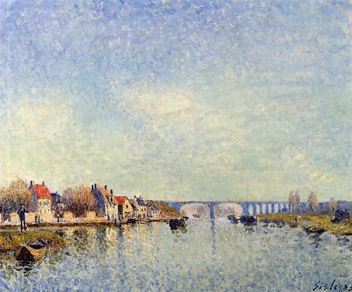 Banks of the Loing at Saint Mammes, 1885 - Alfred Sisley