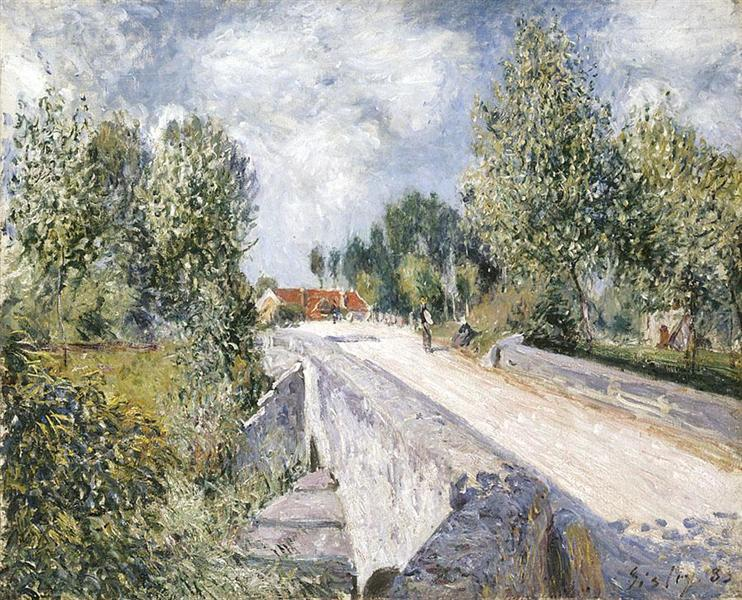 Bridge over the Orvanne near Moret, 1883 - Alfred Sisley