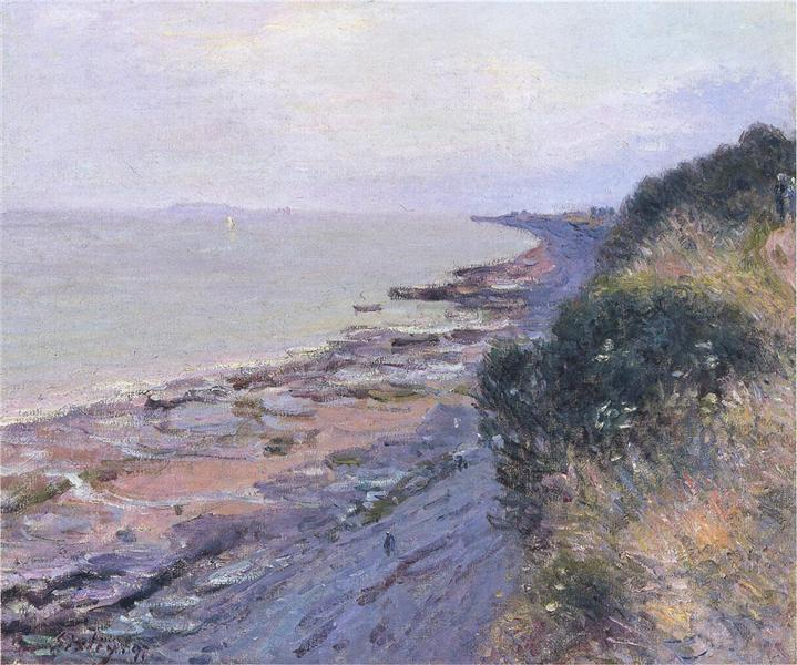 Cliffs at Penarth, Evening, Low Tide, 1897 - Alfred Sisley