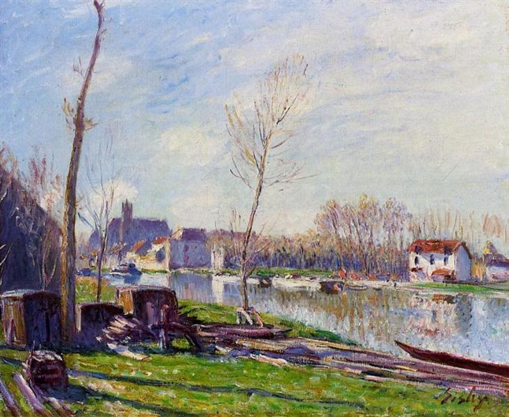 Construction Site at Matrat, Moret sur Loing, 1888 - Alfred Sisley