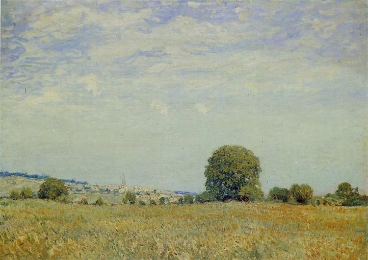 Fields at Saint Cloud - Alfred Sisley