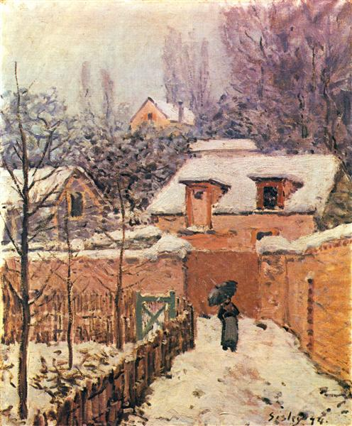 Garden in Louveciennes in the Snow, 1874 - Alfred Sisley