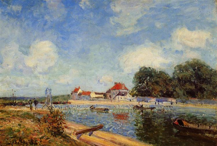 Loing Dam at Saint Mammes, 1885 - Alfred Sisley