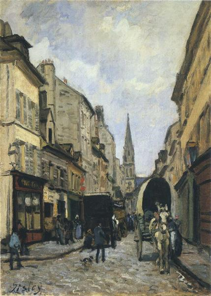 Main Street in Argenteuil, 1872 - Alfred Sisley