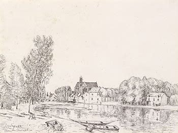 Moret sur Loing, 1892 - Alfred Sisley
