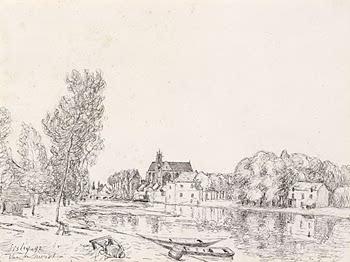 Moret sur Loing, 1892 - Alfred Sisley