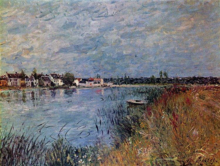 Riverbank at Saint Mammes, 1880 - Alfred Sisley