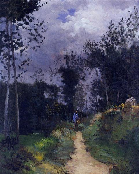 Rural Guardsman in the Fountainbleau Forest, 1870 - Alfred Sisley