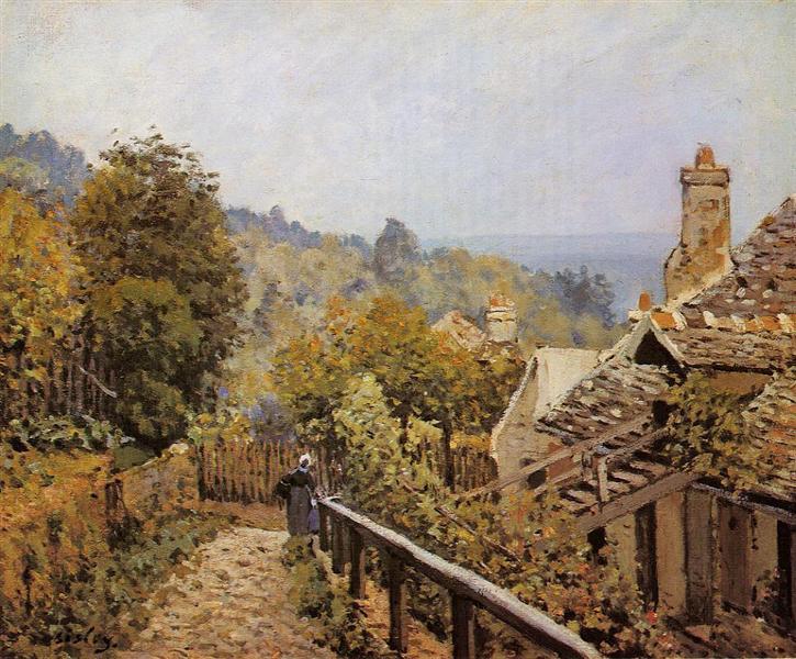 Sentier de la Mi Cote, Louveciennes, 1873 - Alfred Sisley
