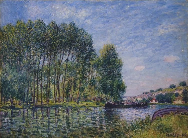 Spring on the Loing River, 1885 - Alfred Sisley