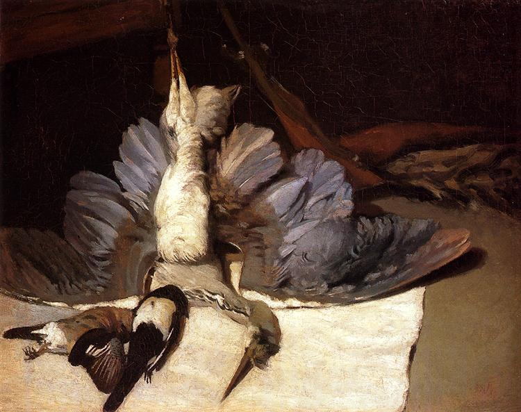 Still Life: Heron with Spread Wings, 1867 - Alfred Sisley