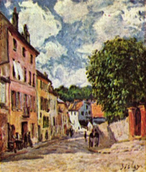 Street in Moret Sur Loing, 1892 - Альфред Сислей