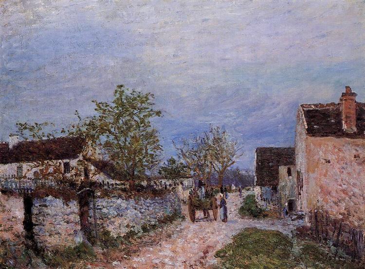 Street in Veneux, 1883 - Alfred Sisley