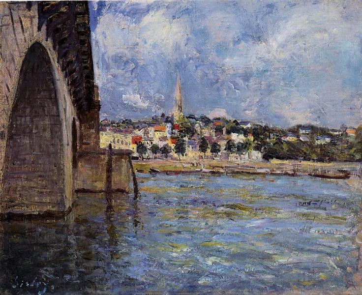 The Bridge at Saint Cloud, 1877 - Alfred Sisley
