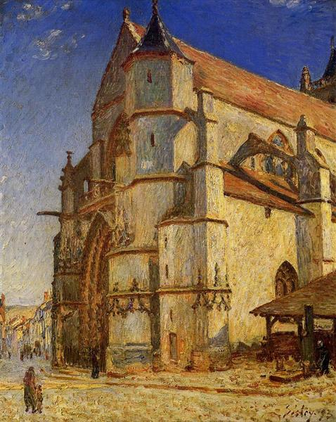 The Church at Moret in Morning Sun, 1893 - Alfred Sisley