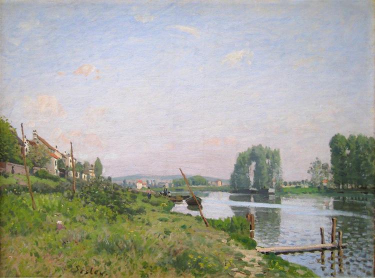 The Island of Saint Denis, 1872 - Alfred Sisley