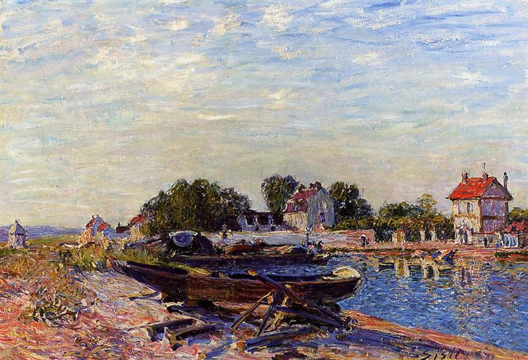 The Loing at Saint Mammes, 1884 - Alfred Sisley