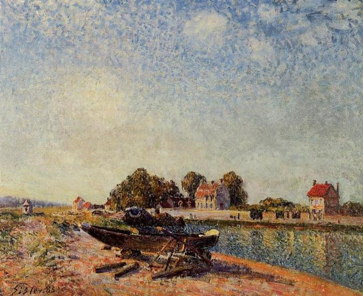 The Loing at Saint Mammes, 1885 - Альфред Сіслей