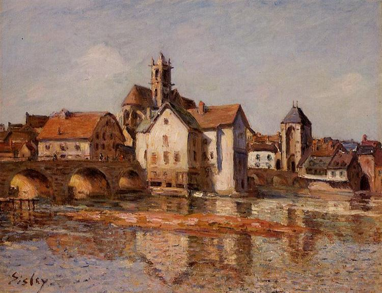 The Moret Bridge, 1892 - Alfred Sisley
