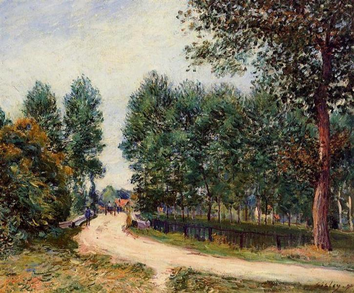 The Path from Saint Mammes, Morning, 1890 - Alfred Sisley