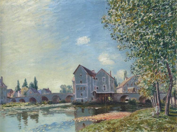 The Pont at Moret Afternoon effect, 1891 - Alfred Sisley