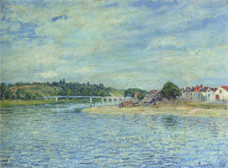 The Seine at Saint Mammes, 1888 - Alfred Sisley