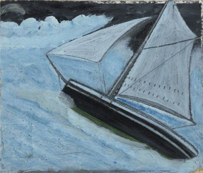 Small Boat in a Rough Sea, 1936 - Alfred Wallis