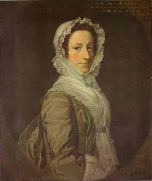 Portrait of Janet Dick, 1748 - Allan Ramsay