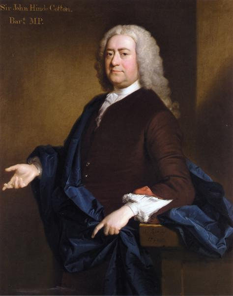 Portrait of Sir John Hynde Cotton, 3rd BT, 1740 - Allan Ramsay
