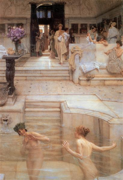 A Favourite Custom, 1909 - Sir Lawrence Alma-Tadema