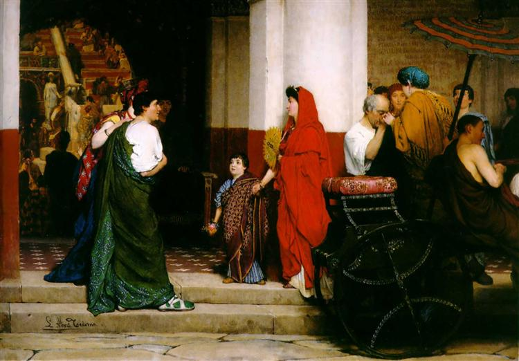 Entrance to a Roman Theatre, 1866 - Sir Lawrence Alma-Tadema
